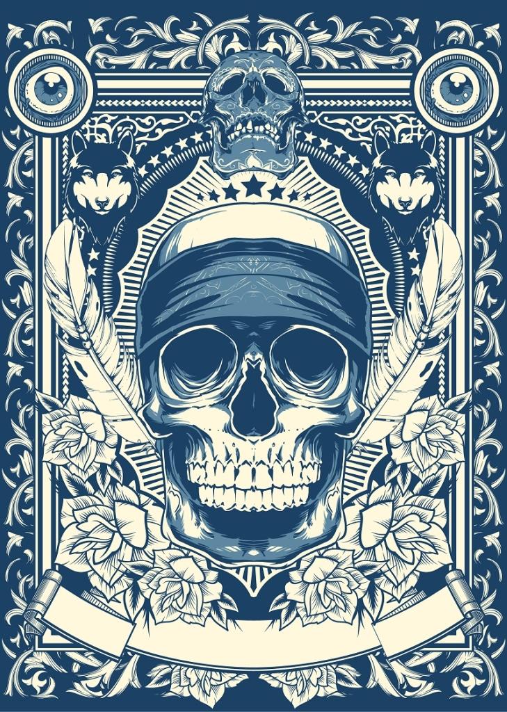 czaszka-motyw