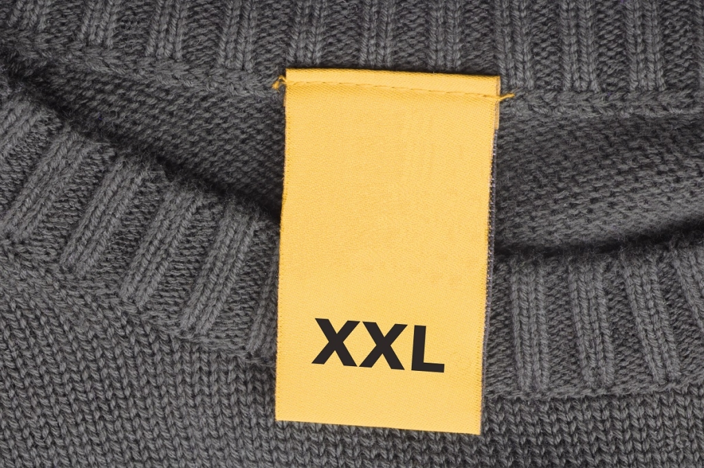 xxl fashion with copyspace in a blank label