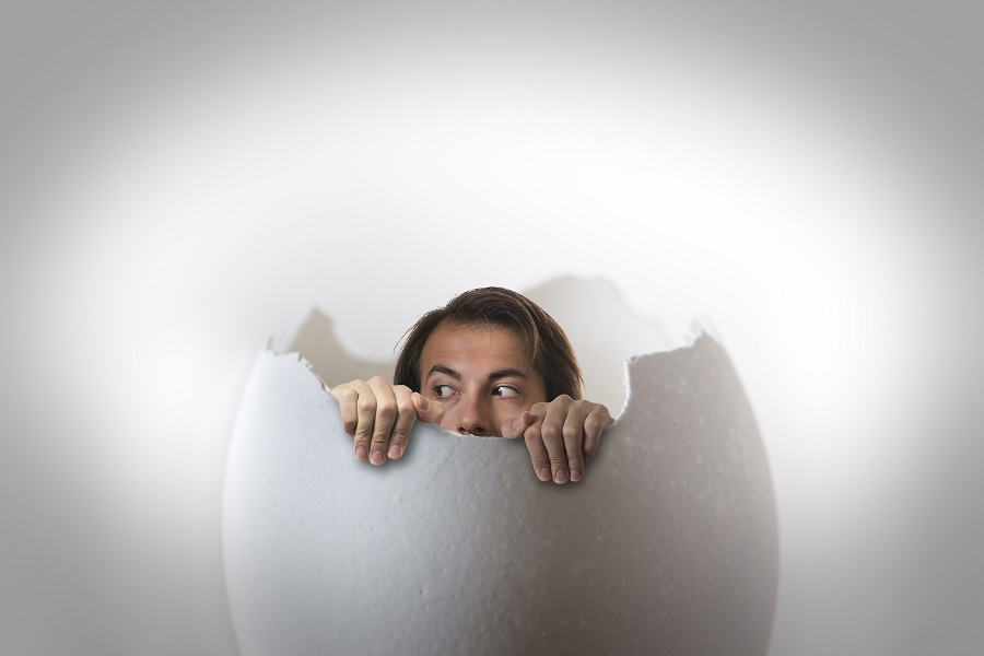 someone in the egg, and he wants to get out.