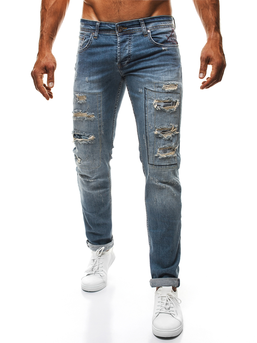 Podarte jeansy, czyli jak nosić destroyed denim » Blog o