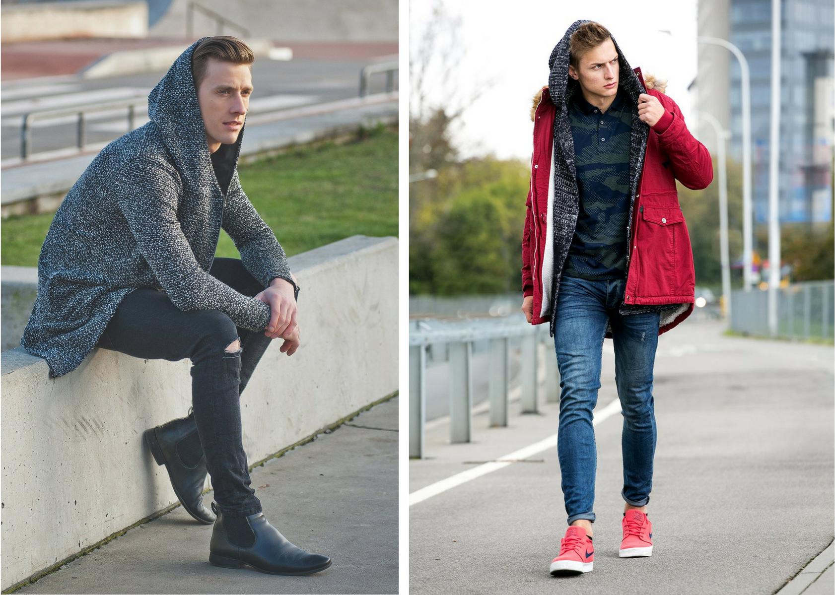 Długi sweter męski – z czym go nosić zimą?