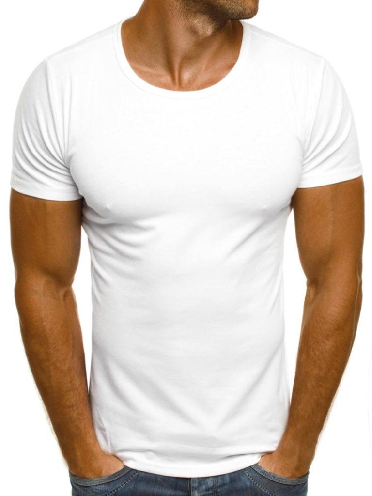 Gładki T-shirt biały
