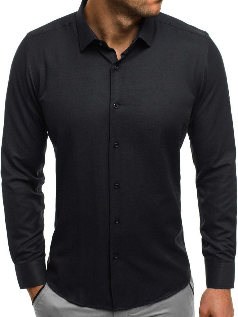 Koszula czarna z długim rękawem