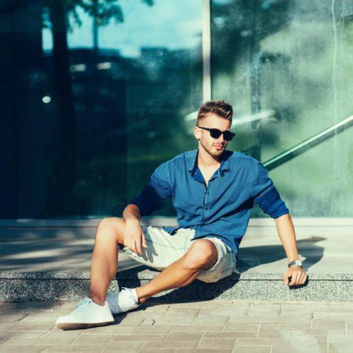 Krótkie spodenki moda męska