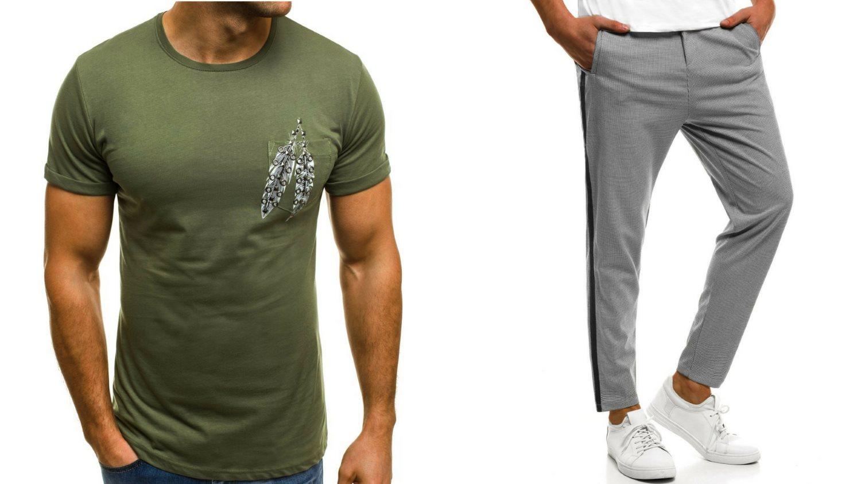 męski koszulka, męskie spodnie