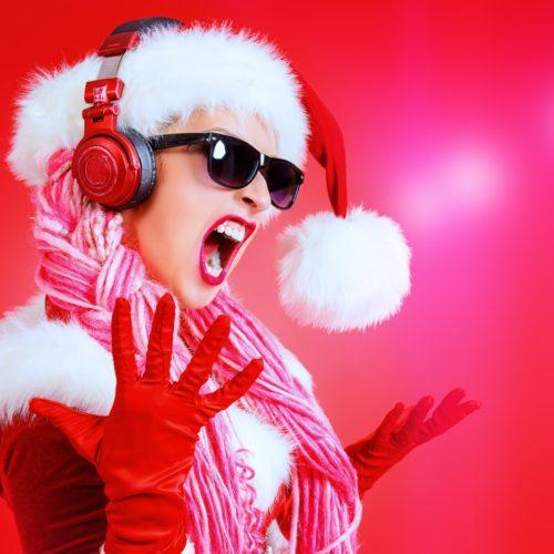 modelka w stroju świątecznym