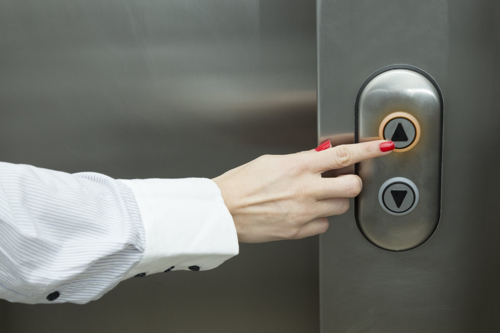 Przycisk w windzie
