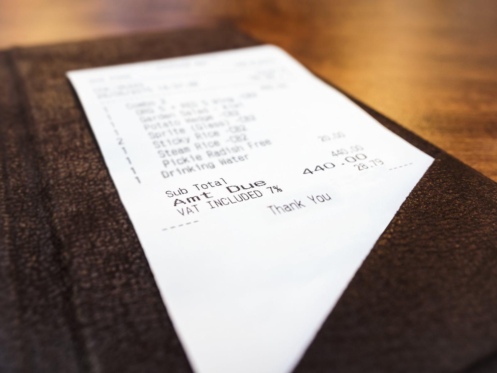 Rachunek za kolację