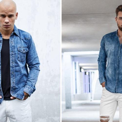 stylizacje z białymi spodniami męskimi