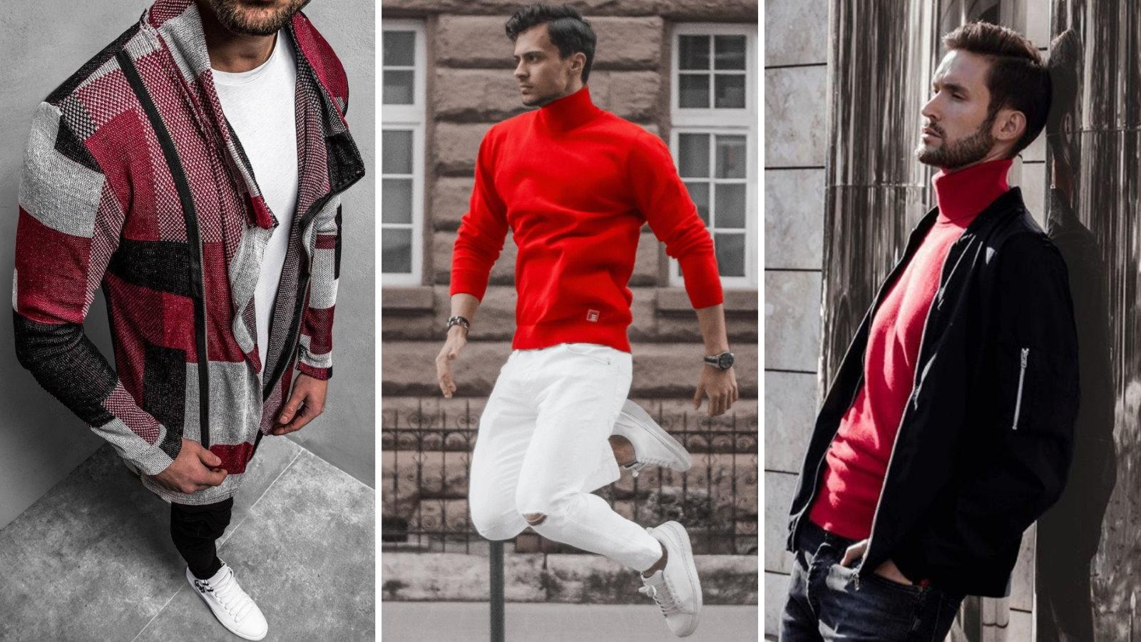 Czerwony sweter – z czym go nosić?