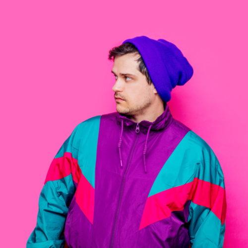męska kurtka zimowa neonowe kolory