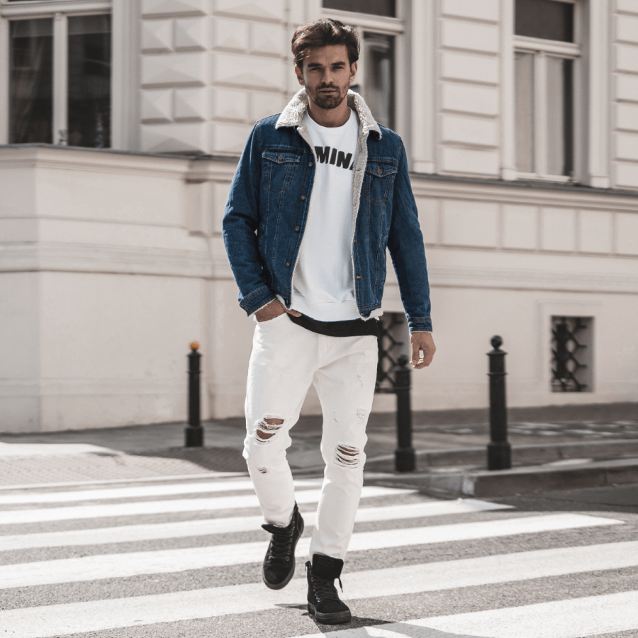 kurtka jeansowa męska na wiosnę