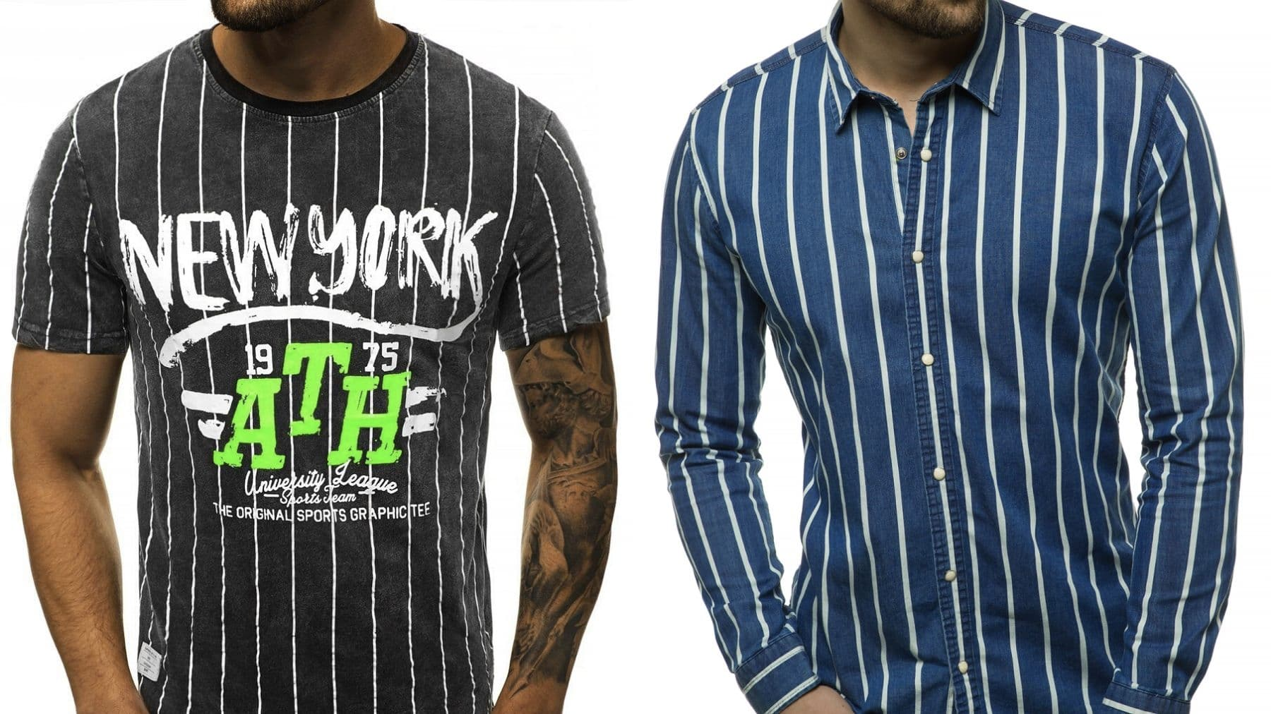 koszula i t-shirt w pasie