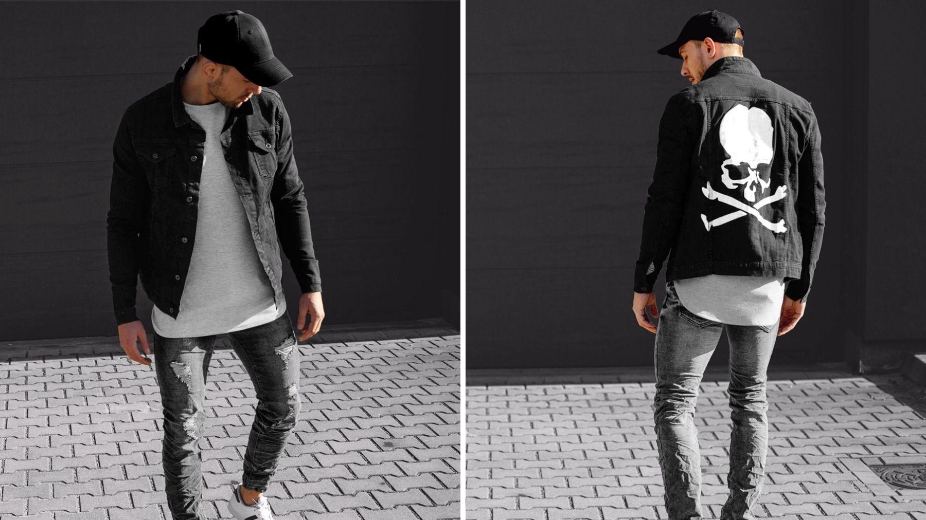 czarna kurtka jeansowa