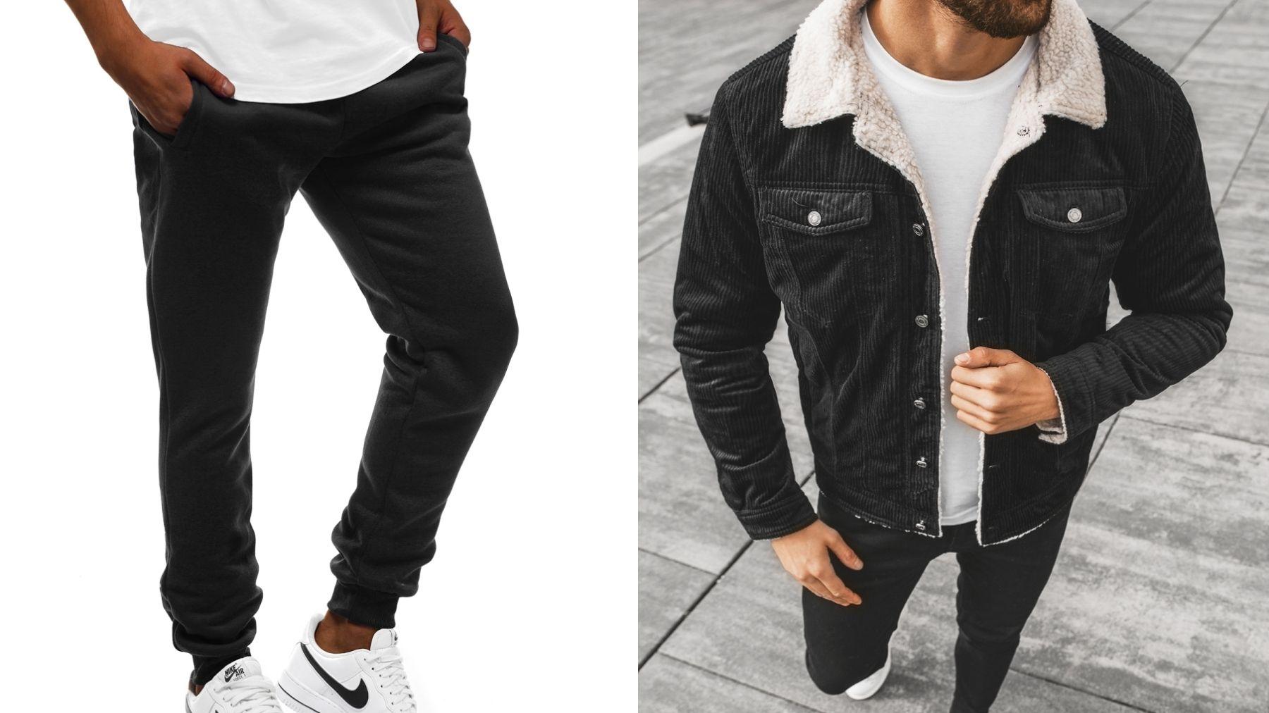 dresy i kurtka jeansowa