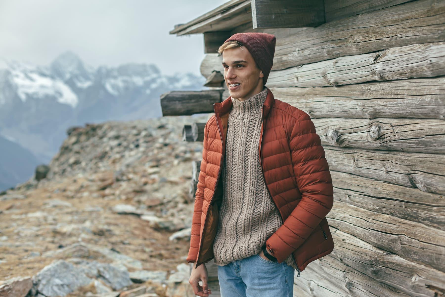 sweter męski na jesień