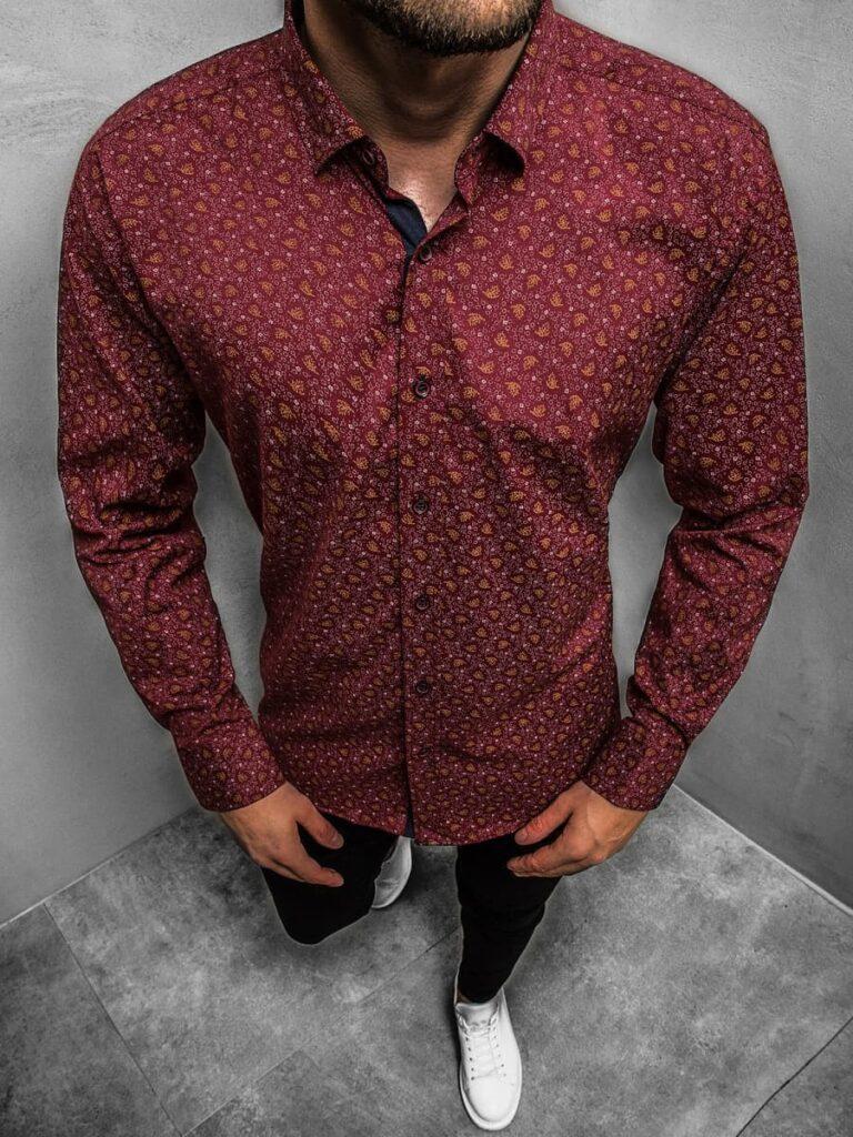 koszula bordowa