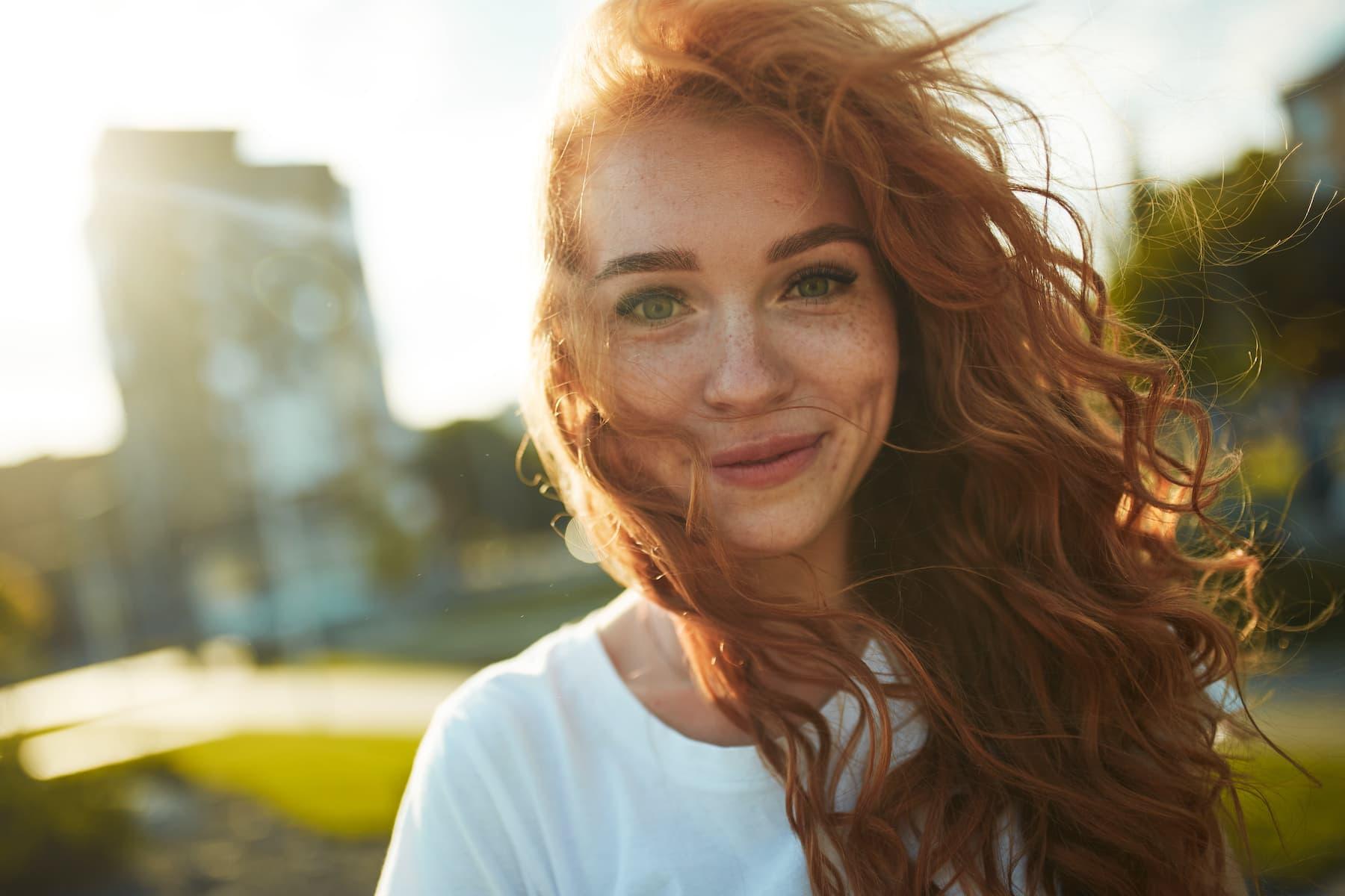zadowolona dziewczyna