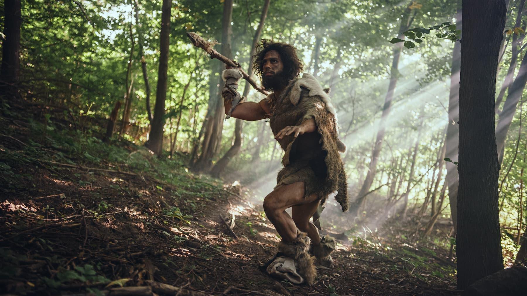 prehistoryczny mężczyzna