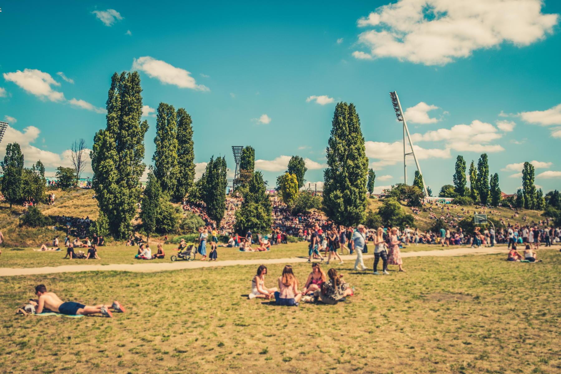 Berlin Ludzie w parku