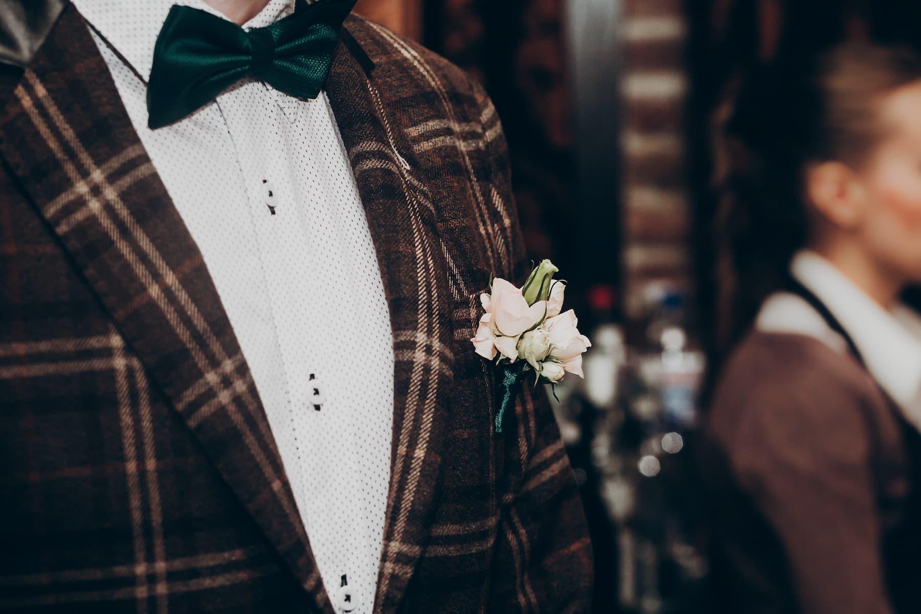 tweedowy garnitur