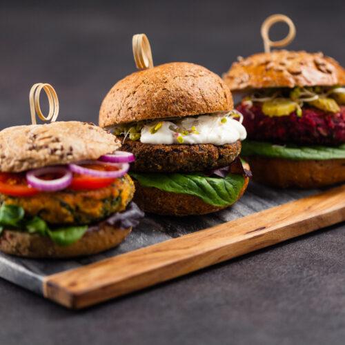 Vege burger przepis, przepis na vege burgery